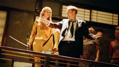 کوئنتین تارانتینو در پشت صحنه فیلم بیل را بکش